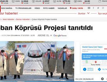Çoban Köprüsü Projesi Ulusal Basında
